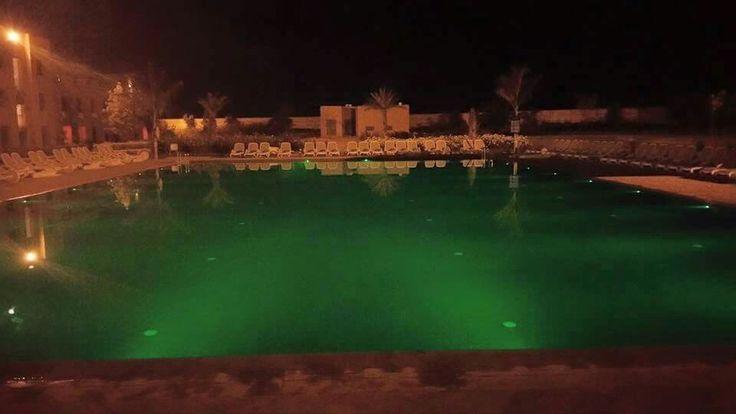 Pool at night.
