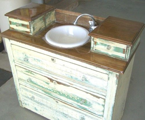 "Old bathroom sink 3 drawers ""antique base cabinet sink"""