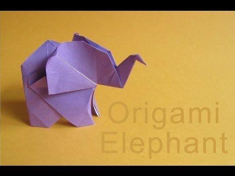 video con instrucciones para realizar un elefante de origami