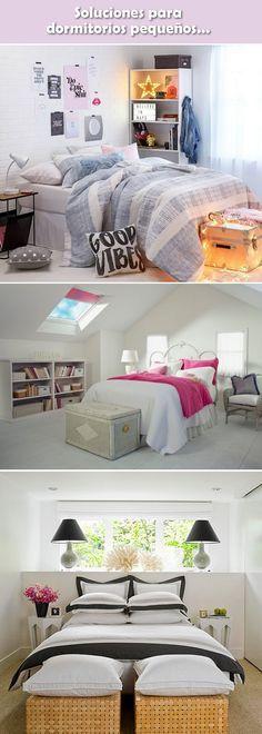 Dormitorios pequeños. Decoración de habitaciones pequeñas. Ideas para dormitorios pequeños. Cuartos pequeños.