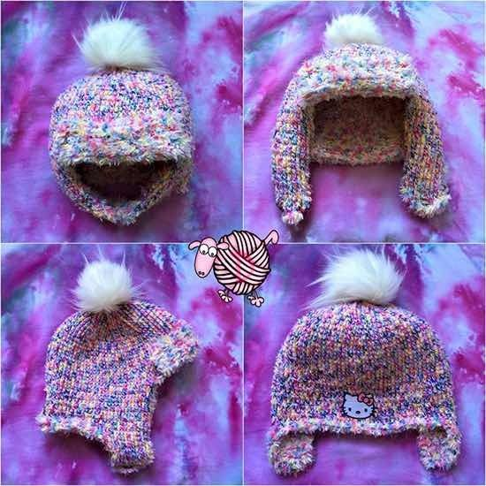 Dads Crochet Trapper Hat is lined with fun fur for those cold winter days…