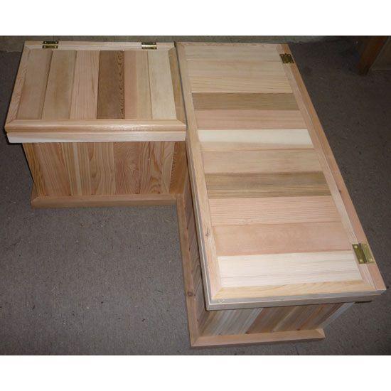 Corner Bench Plans | Corner Storage Benches + Cedar Chest