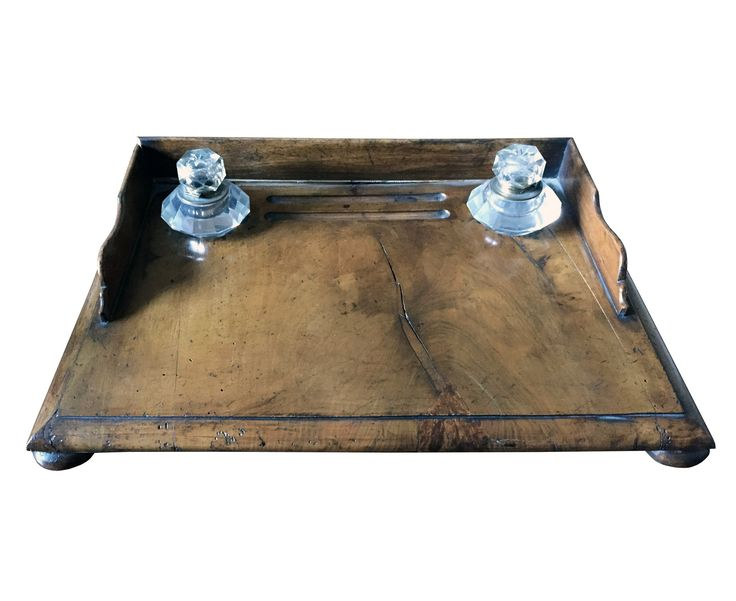 Buy English Desk Caddy c. 1850 by Maxine Snider Inc. - Limited Edition designer Accessories from Dering Hall's collection of Georgian Neoclassical Victorian Tabletop.