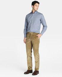 Pantalón de pana de hombre Emidio Tucci regular beige