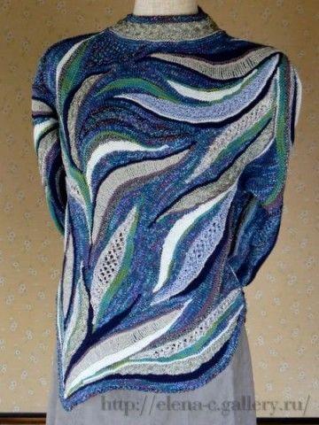 Фриформ спицами японской мастерицы Yoko Asada. Только идеи, без описания