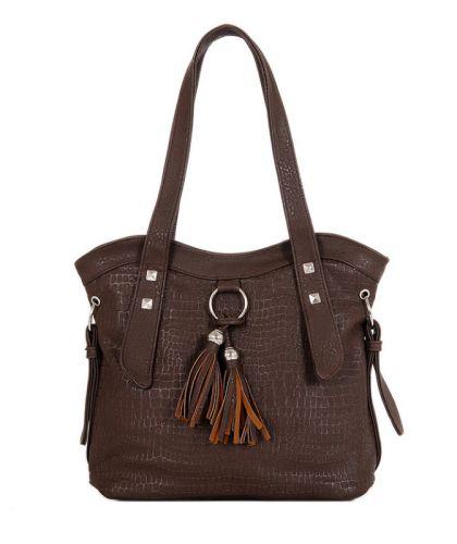 Γυναικεία τσάντα χεριού - ώμου JC OC128-Brown