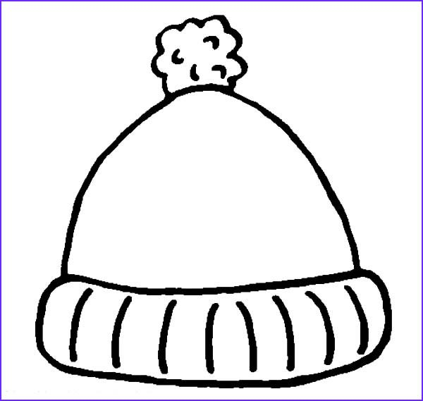 Hats Coloring Pages Winter Hat Template Winter Hat Coloring Page