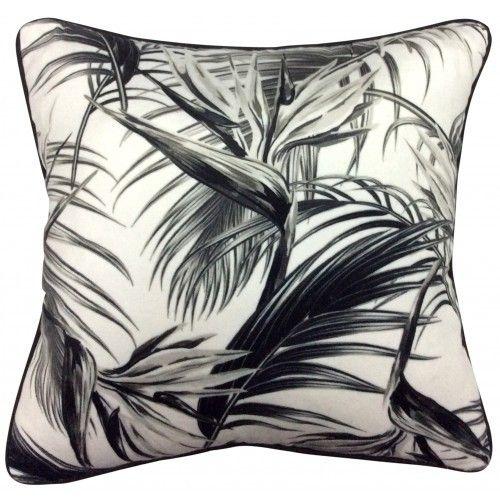 Set 2 Mono Palms Cushions Home Decor