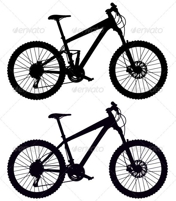 Silhouettes of Bicycles   #GraphicRiver         Silhouette of mountain bikes     Created: 3July13 GraphicsFilesIncluded: VectorEPS Layered: No Tags: adventure #bicycle #bike #black #cogs #country #crank #cross #cycle #exercise #extreme #fast #frame #full-suspension #hardtail #illustration #mountain #mtb #pedals #race #ride #rock #shock #silhouette #sport #sportive #transport #vector #wheel