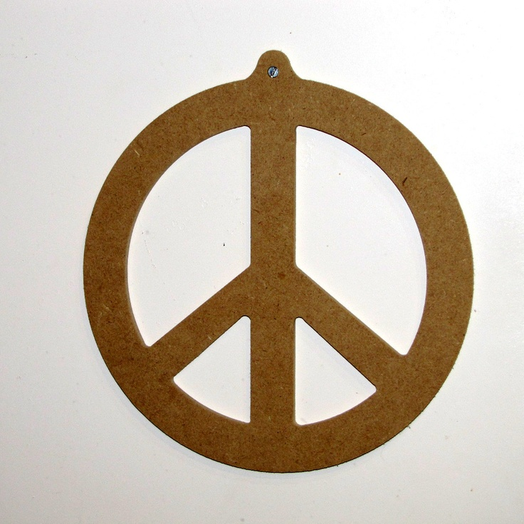 Peace Sign Pattern Decorative Wood Mosaic Wall Hanging Plaque Decor Vintage Unfinished Mdf