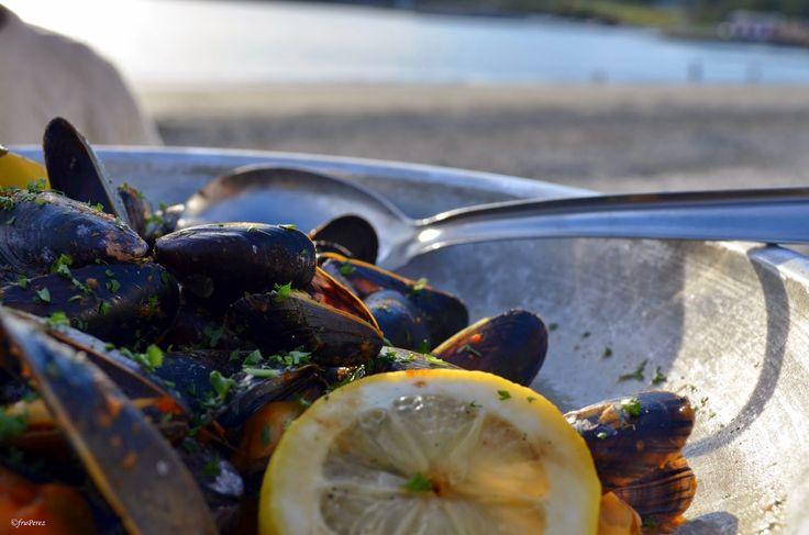 Mussels at Stokkøya Sjøsenter og Strandbaren, Trøndelag, Norway