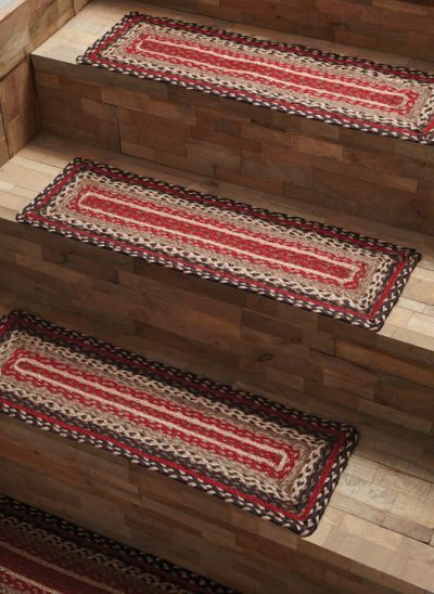 Tacoma Stair Tread Jute Rectangle / Like us on Facebook!  https://www.facebook.com/AllysonsPlaceDecor / #Primitive #country #Cabin