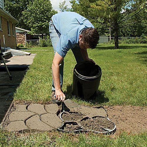 Pathmate Do It Yourself Random Stone Mold Cobblestone