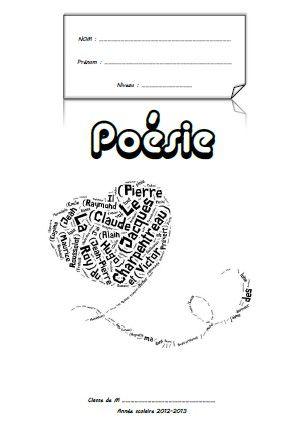 page de garde - cahier de poésie