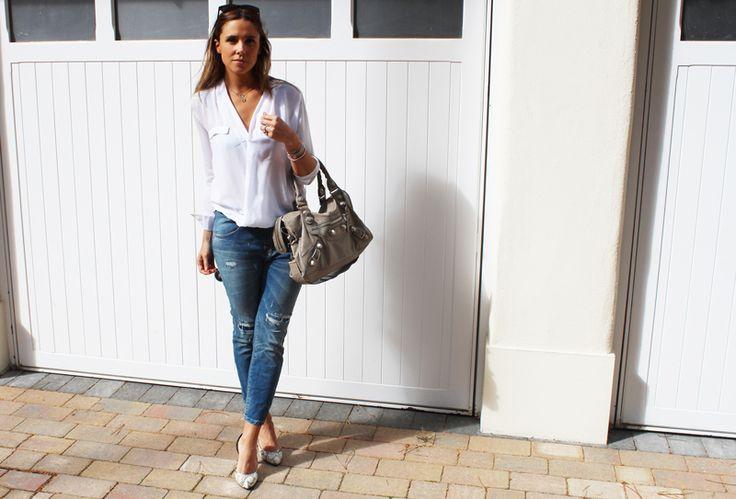 Zara White Cotton Blouse 2