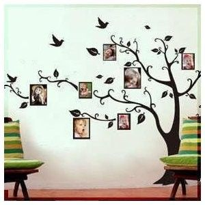 I could see doing something like this for grand kid photos--you could change the pictures out as they grew.  A little less obnoxious than the wall of school pictures I guess, and def not in the living room...