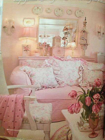 Design My Own Living Room Online Free: Shabby Sweet......overstuffed Couch, Bird House, Big