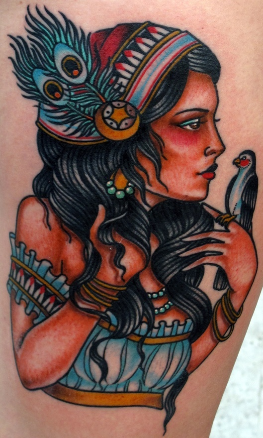 Gypsy style tattoo but i would want her as a mermaid