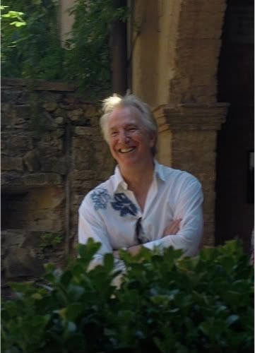 August 2011 -- Alan Rickman at Castello di Portentino, Tuscany, Italy - Rima was there but she's not shown in the photo.