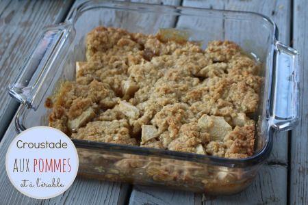 Recette de croustade aux pommes au sirop d'érable.