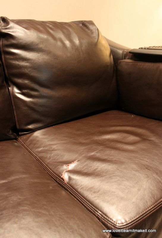 Fix a Rip in Your Leather Sofa | Love It Learn It Make It