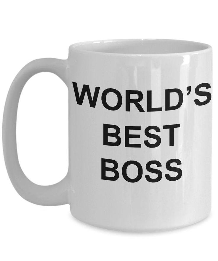 Dunder Mifflin (The Office) World's Best Boss TV Show (Tea, Cocoa) 15 Oz. Mug
