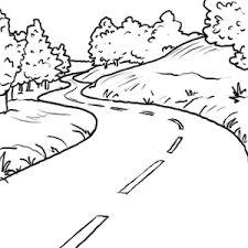 Les 104 meilleures images du tableau coloriage sur - Dessin de route ...