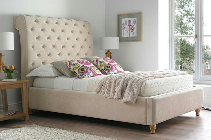 You've got to love an oversized upholstered headboard !