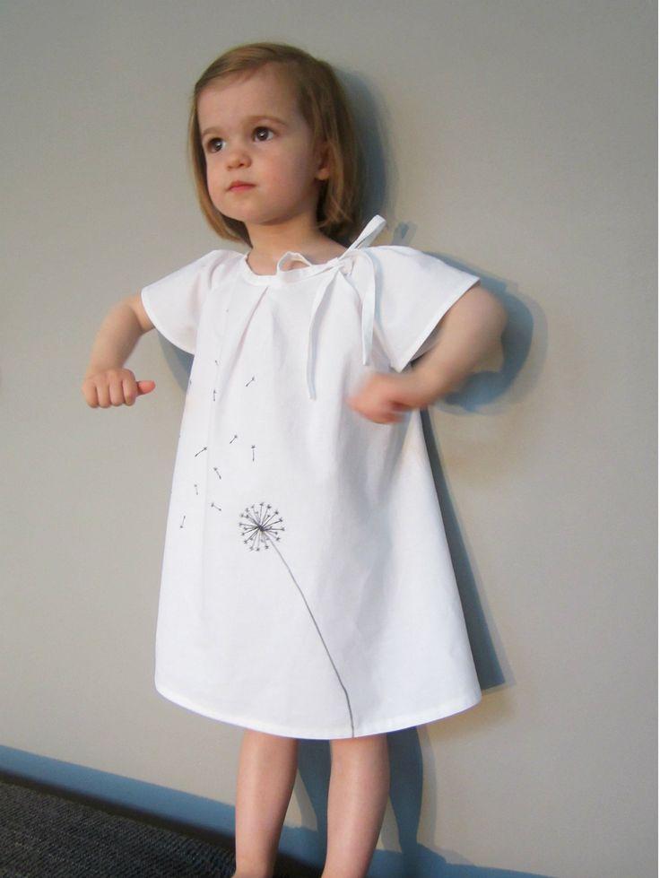 dandelion dress by straightgrain: Girly Dresses, Birdi Sewing, Dandelions Dresses, Beautiful Dresses, Dresses I, Dandelions Flowers, Baby Clothing, Japanese Sewing, Sewing Patterns