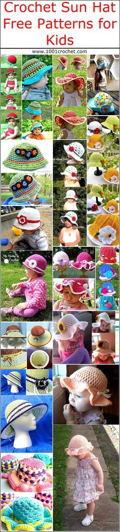 Crochet Sun Hat Free Patterns for Kids