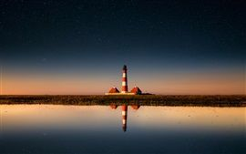 Leuchtturm, Himmel, Sterne, Meer