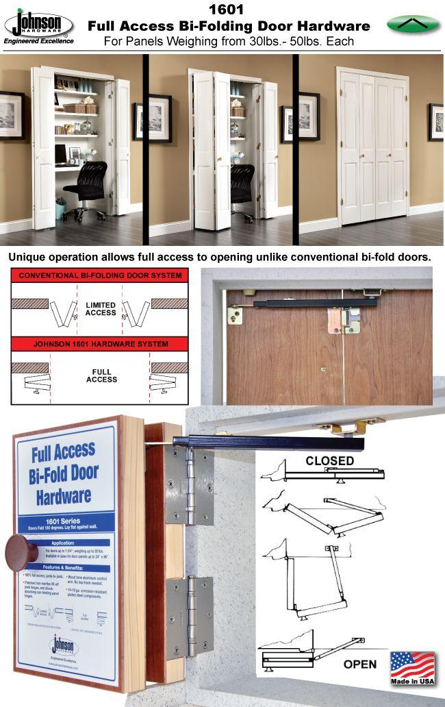 Johnson Hardware® 1601 'FULL ACCESS' BI-FOLDING DOOR HARDWARE