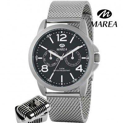 Reloj Marea colección del cantante Manuel Carrasco para hombre. Cadena diseño malla y caja con mecanismo multifunciones y esfera negra. ENVIO GRATIS http://ift.tt/2DlcHxn  #relojhombre #reloj #relojcorrea #relojmarea #relojmultifunciones #manuelcarrasco #regaloparahombre #regalo #navidad
