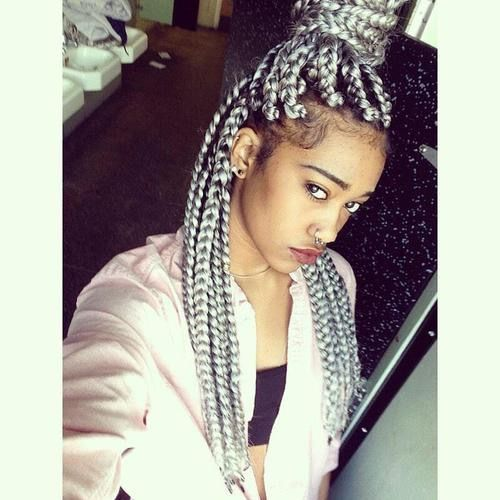 Grey Crochet Hair Styles : Silver Grey Crochet Braids Short Hairstyle 2013