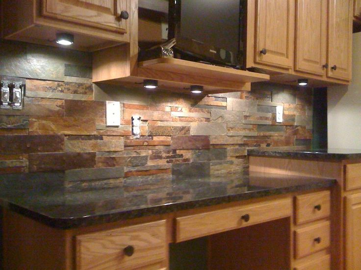 25 best ideas about slate backsplash on pinterest tin