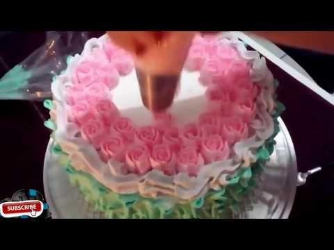 Amazing,,, cake tart decorating skills - YouTube