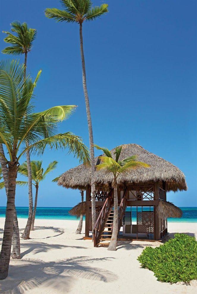 Пляжная массажная кабина в гостинице Secrets Royal Beach, Доминиканская Республика