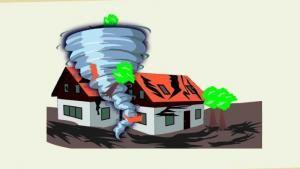 Puting Beliung Rusak Puluhan Rumah Di Belawan