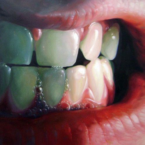 oil painting teeth