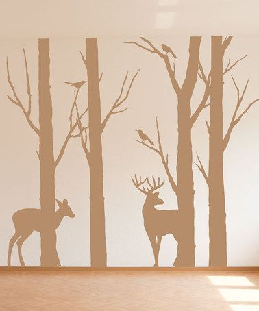 Take a look at this Sissy Little Light Brown Deer in the Forest Wall Decal by Sissy Little on #zulily today!