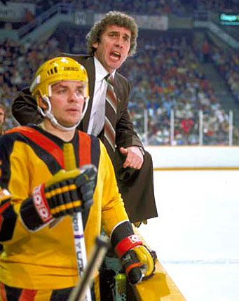 Kevin McCarthy with Roger Neilson behind the bench.