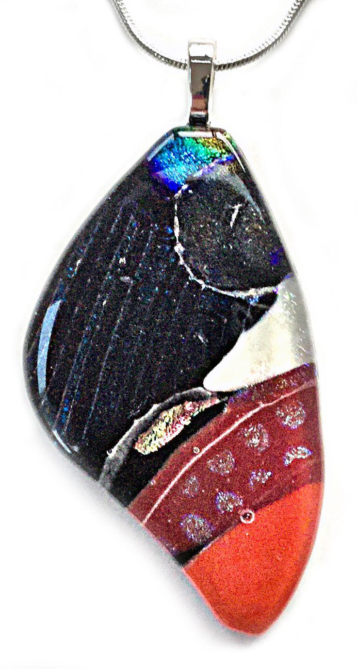 Elegant Lady You can Fly Butterfly Pendant Shards Glass Studio www.shardsglass.com