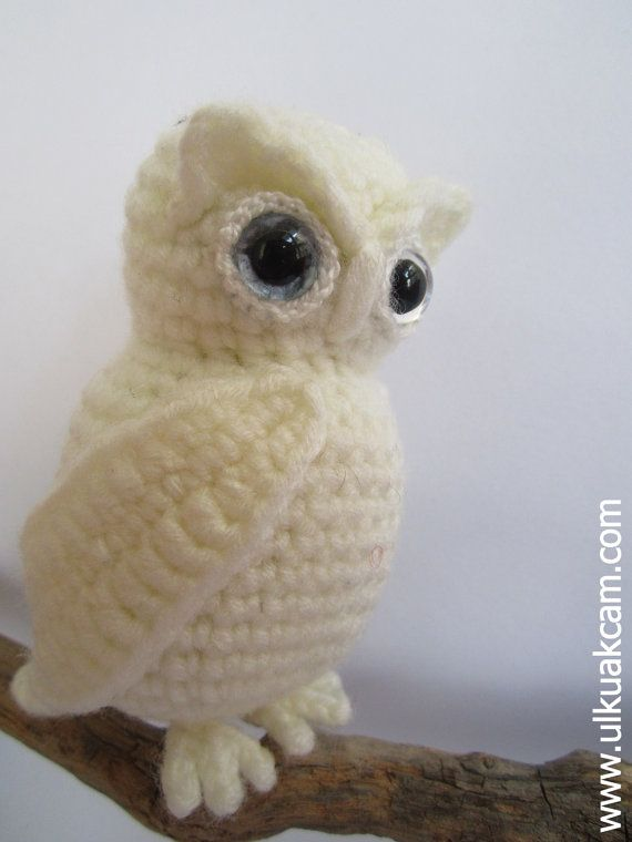 The Snowy Owl - Queen of the North  This listing is for an amigurumi pattern, not the finished toy.  The finished owl is approximately 9 cm / 3,54 inc.   Crochet pattern in pdf format, written in English or German, and emailed to you within 24 hours of your payment! Thank you for looking.  ------------------------------------------------------------- PATTERN DEAL Buy 4 get 1 free !! You can order any 4 pattern and get 1 free ... Please advise your choise when purchasing. ----------------...