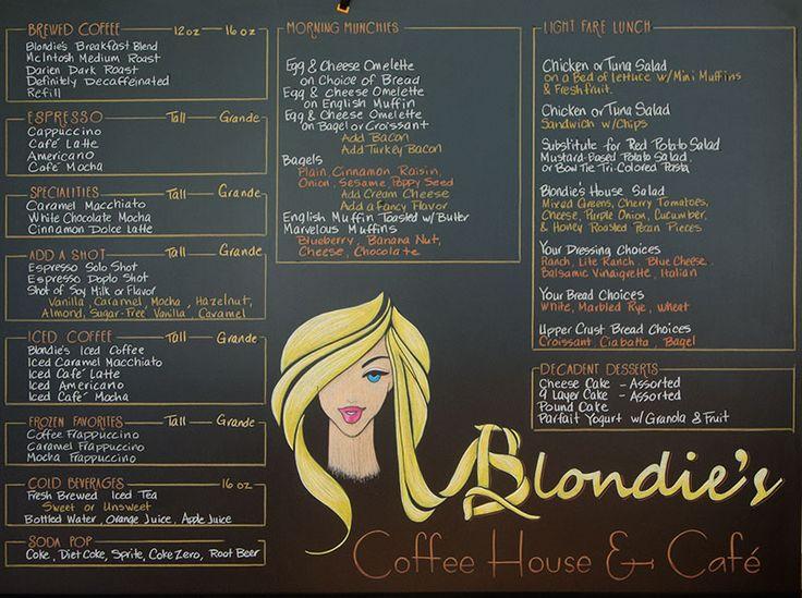 Blondies Chalk Menu Sign