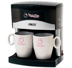 Hello Kitty 2 cups coffee maker