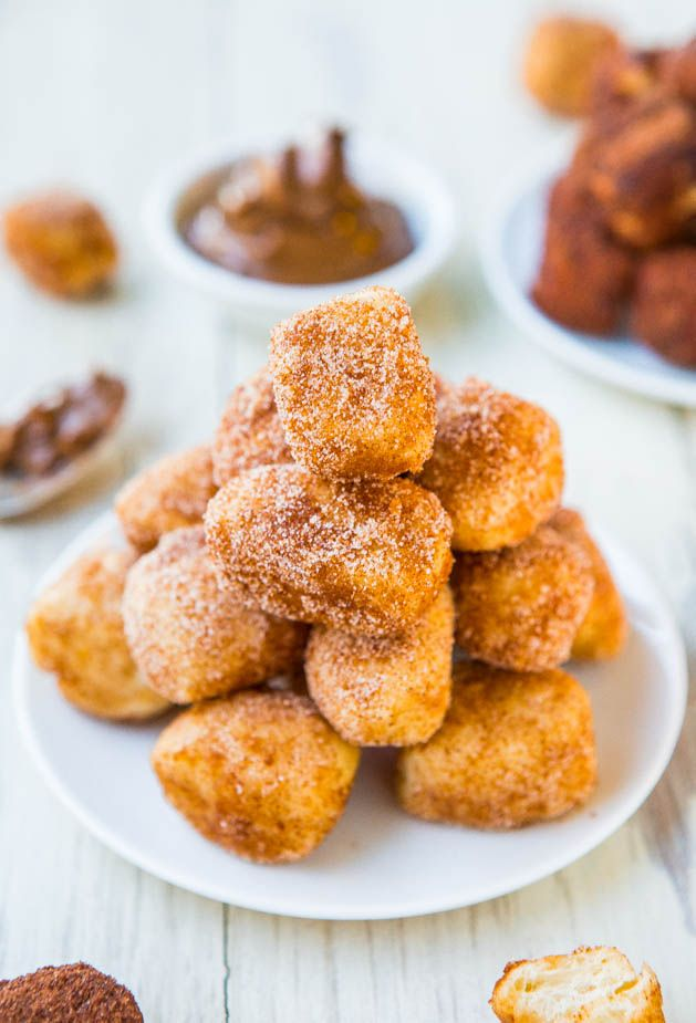 One-Hour Cinnamon-Sugar Soft Pretzel Bites (vegan) - Make your own soft & chewy pretzel bites in 1 hour! You won't believe how easy it is!
