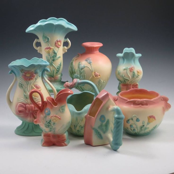 27 Best Images About Pottery Hull On Pinterest Pink Blue Large Floor Vases And Pastel Colors