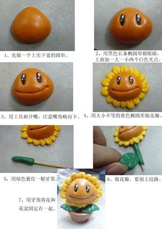 jolie plante - Fimo, Cernit et accessoires : http://www.creactivites.com/236-pate-polymere