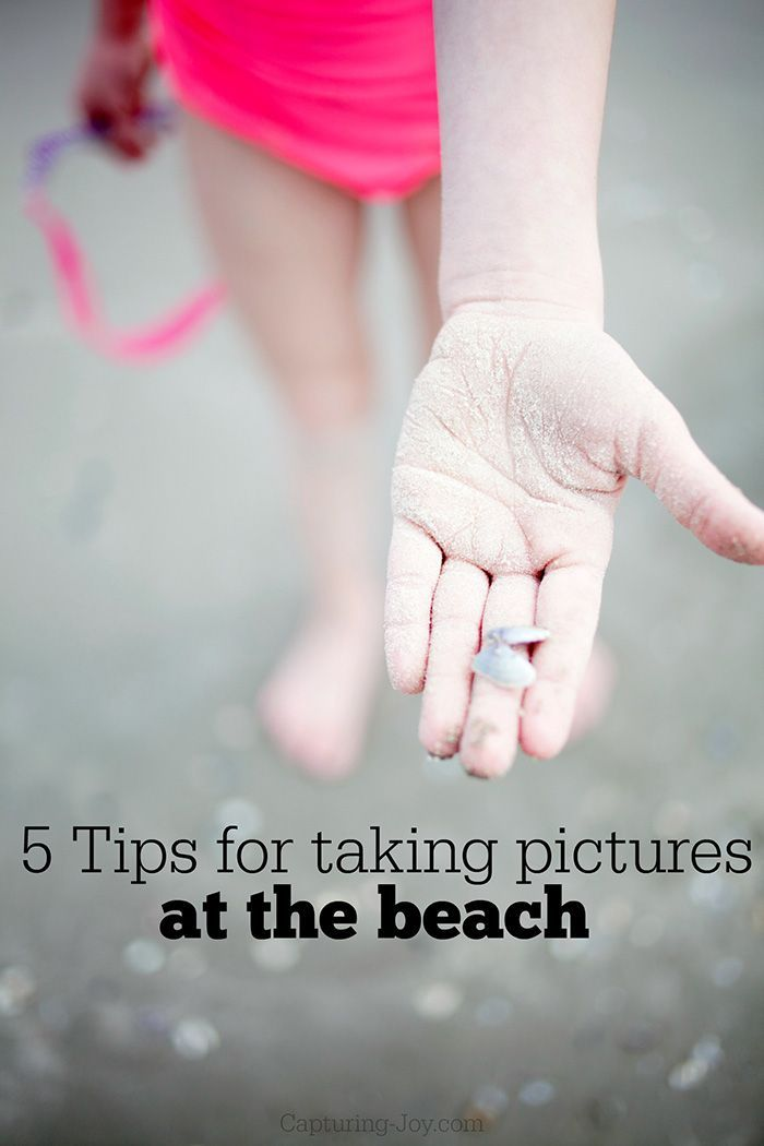 5 Tips for taking pictures at the beach. Photography tips and tricks.