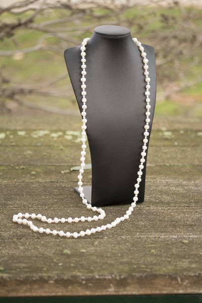 """""""The Gatsby"""" Long Freshwater Pearl Strand Necklace"""